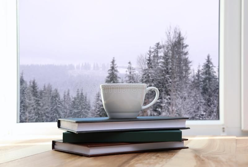 hot-winter-drink-books-near-window-view-snowy-forest-152877451.jpg