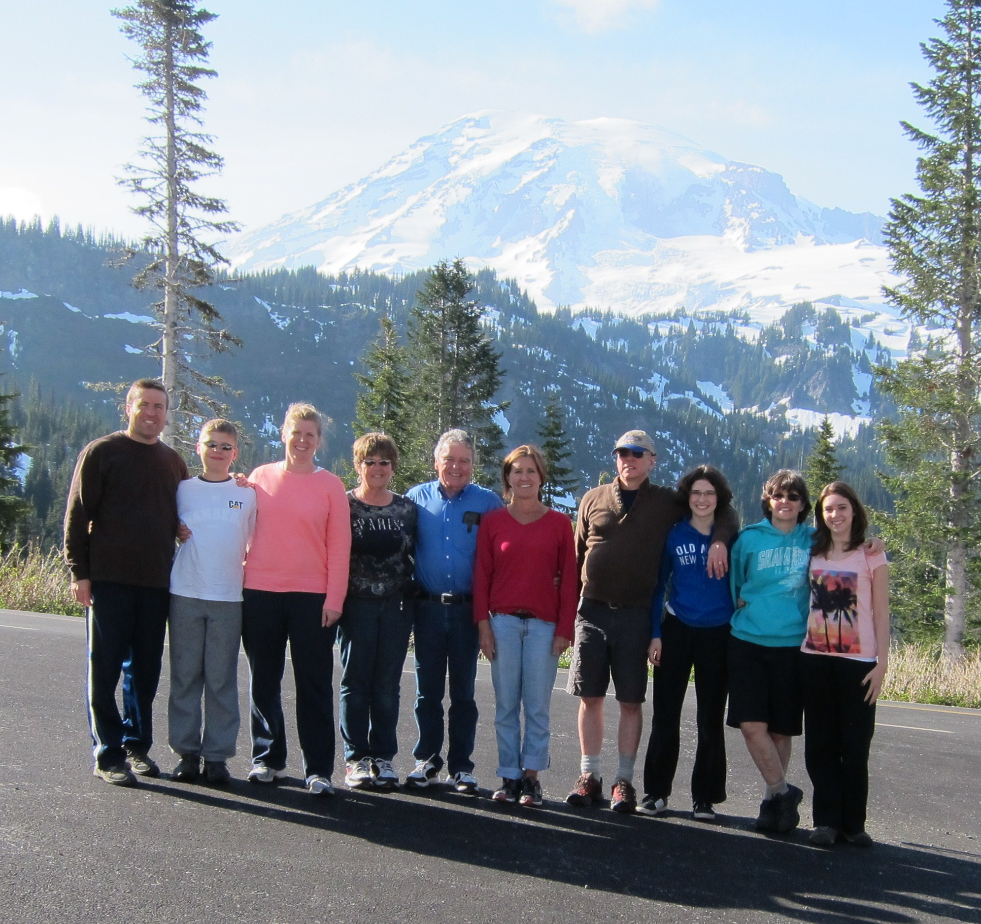 Our family at Mt. Rainier National Park