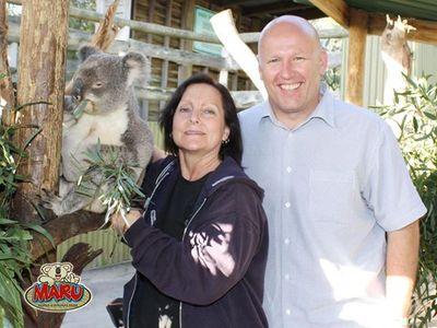 Nancy & Jeff @ MARU Koala & Animal Park in Australia.jpg