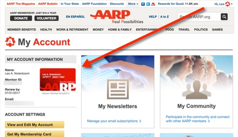 AARP Page