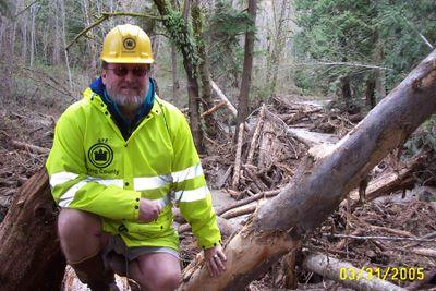 Assessing failed beaver dam damage in Carnation.