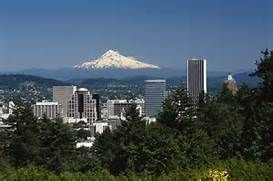 View of Mt. Hood from Portland hills