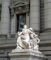 Statues represent 4 continents