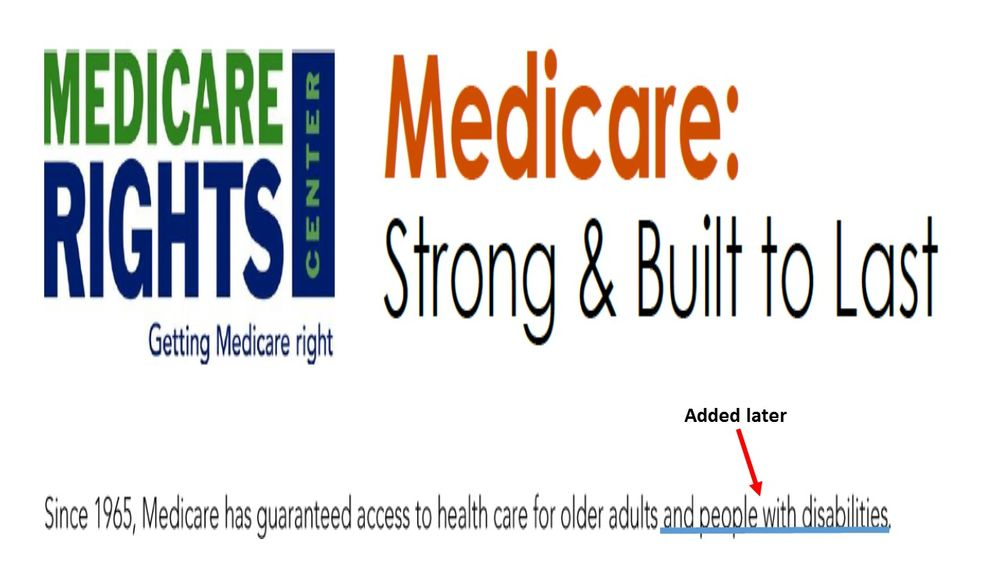 Medicare Rights Center Releases Big List of Lefty ...