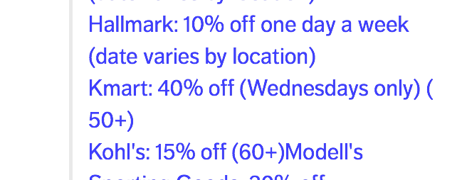 do you ask for discount? updated with aarp discoun - page 3