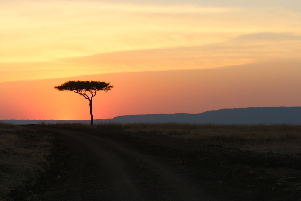 Sunset at 6:30 pm in Maasi Mara Jul 15, 2013