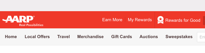 "Check your Rewards for Good  account activity via ""My Rewards"""