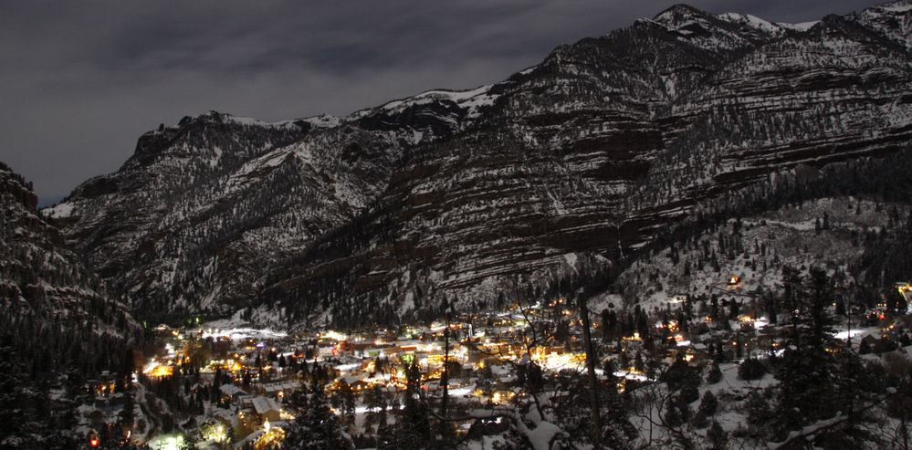 "Ouray CO in wintertime. It is a magical place. There is a saying, ""Ouray is the Switzerland of America"". I totally agree!"