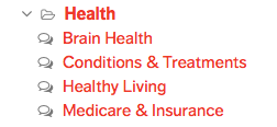 Under the Health forum find both the Healthy Living and Conditions and Treatments sub-forums.png
