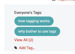 a tagged post