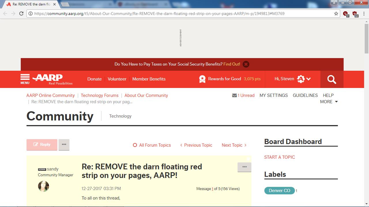 Aarp Car Buying >> More Vertical Space with UBlock Origin - AARP Online Community
