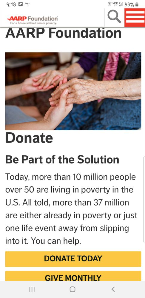 AARP Foundation Donation info