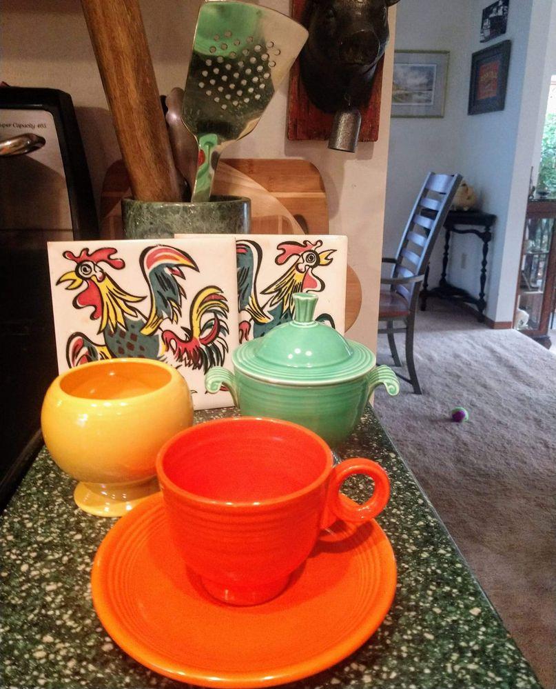 Morning Fiestaware coffee
