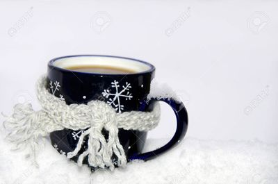 So cold the coffee needs a scarf!