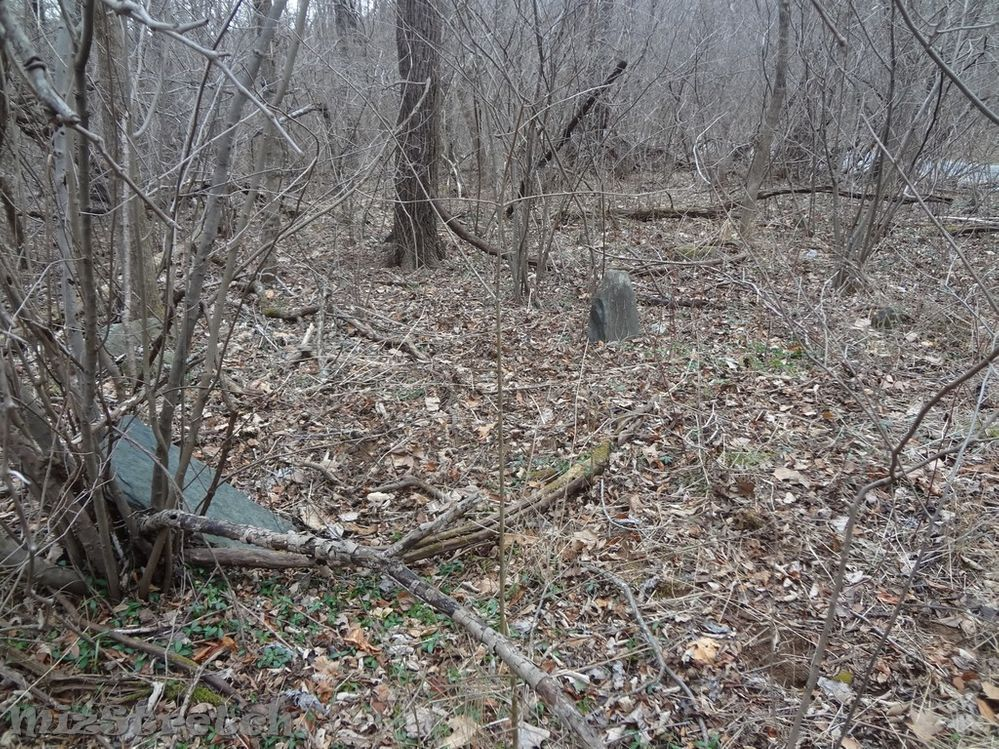 Mostly unmarked fieldstones