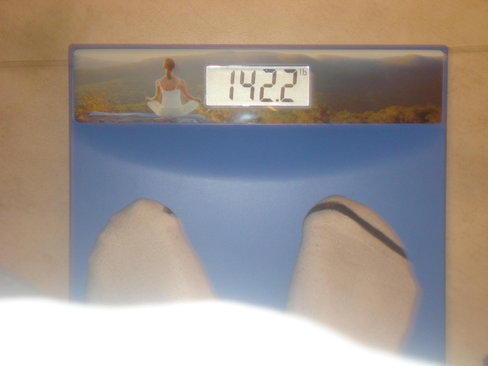 A few pounds lighter